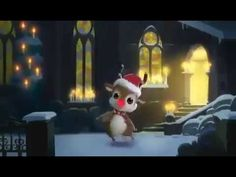 Rudolph the red nose Reindeer Merry Christmas Funny, Christmas Greeting Cards, Christmas Greetings, Funny Car Videos, Feliz Gif, 1 Advent, Italian Christmas, Rudolph The Red, Movies