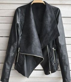 this is so trendy and doesn't look stiff like some leather jackets do!