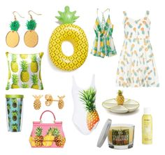 """Obsessed with.... Pineapples for summer"" by beavercity on Polyvore featuring Finest Imaginary, Dorothy Perkins, Big Mouth, Pier 1 Imports, Dolce&Gabbana, SONOMA Goods for Life and ONIA"