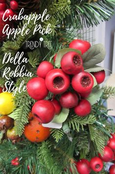 Della Robbia or Colonial Williamsburg Style Fruit Tree for Christmas — Trendy Tree