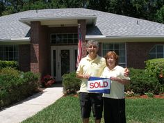 Bob and Jeannie in their new home on Fleming Island.  Thank you guys!