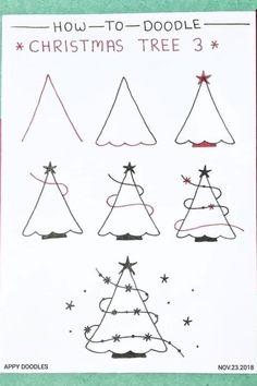 Christmas Doodles, Diy Christmas Cards, Christmas Art, Christmas Decorations, Christmas Cards Drawing, Christmas Calligraphy Cards, Handmade Christmas, Easy Christmas Drawings, Christmas Ornaments