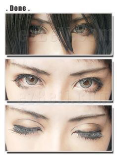 Mikasa makeup for my Mikasa cosplayer in my Attack on Titan group cosplay