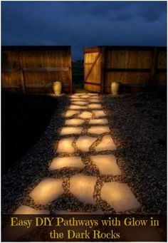 How To Make a Spectacular Glow In The Dark Pathway Fire Pit In Deck, Backyard With Fire Pit, Lights In Backyard, Backyard Design With Pool, Outdoor Fire Pits, Backyard Landscape Design, Dyi Fire Pit, Backyard Planters, In Ground Fire Pit