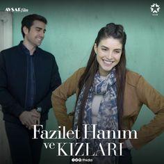 Promotional with Caglar Ertugrul as Yagiz Egemen and Deniz Baysal as Hazan in the Turkish TV series FAZILET HANIM VE KIZLARI, 2017-2018.