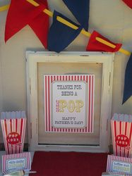 """popcorn  / Father's Day """"Thanks for being a Great Pop!"""" 