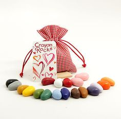 Crayon Rocks: Valentine Gift Bag of 20 Colors
