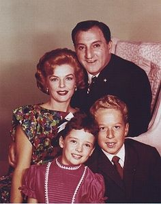 "The cast of ""Make Room for Daddy"" aka ""The Danny Thomas Show in its final seasons. Missing in the photo is older sister Terry, who was sent off to college, later married, and eventually written off the show. The character now resides in sitcom pergatory along with the older sister on ""That Seventies Show"" and the older brother on ""Happy Days."" Aspiring actors take note; if they ask you to audition for a part as the ""older sibling,"" run like hell."