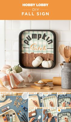 With a dash of chalk paint, a few wood letters, and your favorites embellishments, you can make a cute wood sign to match your home decor this fall!