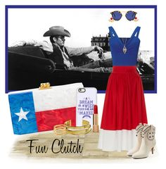 """Deep in the Heart of Texas!"" by krusie ❤ liked on Polyvore featuring Ottoman Hands, Edie Parker, Casetify, MDS Stripes, Miss Selfridge, Elizabeth and James, Krewe, Marc Jacobs, Accessorize and Jennifer Zeuner"