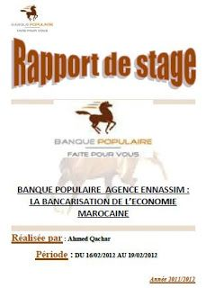 Telecharger Rapport De Stage Banque Populaire Word Rapport