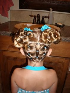 Maybe my girls will let me do their hair like this next week?