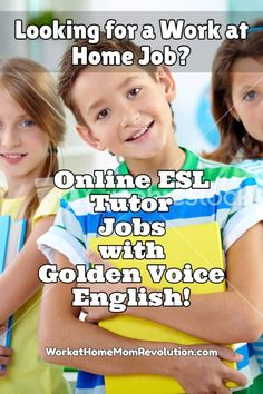 Golden Voice English is hiring work at home ESL tutors in the U.S. for the…