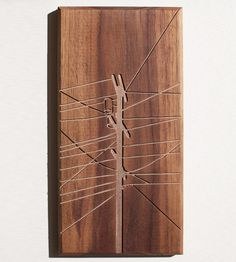 Power Pole Wood Art | Feeeel the power with this piece of wood art routed in solid w... | Artwork