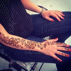 Henna tattoo on the