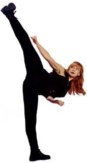 Cynthia Rothrock; always enjoyed watching her perform even though she was a little over the top sometimes...
