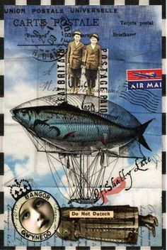 Mail Art/Fish Challenge - oFISHally Late - Deviant Scrap Gallery on imgfave Collages, Collage Art, Mail Art, Envelope Art, Found Object Art, Postcard Art, Assemblage Art, Artist Trading Cards, Fish Art