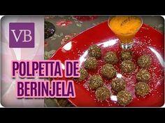 Polpetta de berinjela com molho de cenoura — Receitas
