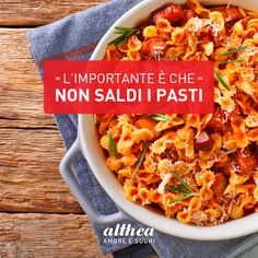 Correre da un negozio all'altro richiede tanta energia. Quale scusa migliore per un'appetitosa pausa pranzo? Raccontateci le vostre ricette più sfiziose! #foodie #italianfood #saldi