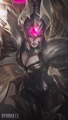 Mobile Legends : Freya War Angel by Android Mobile Games, The Legend Of Heroes, Mobile Legend Wallpaper, Vampire Girls, Anime Tattoos, Dark Wallpaper, Mobile Legends, Fantasy Character Design, Fantasy Women