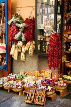 Market Shop in Tropea, Italy