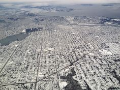 Great shot of last week's snowy Seattle from above.