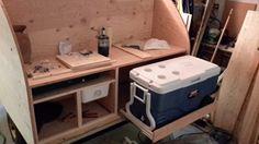 Camping Trailer Diy, Bench, Storage, Furniture, Home Decor, Purse Storage, Decoration Home, Room Decor, Larger