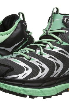 Hoka One One Tor Speed 2 Mid (Dark Shadow/Mint Green) Women's Shoes - Hoka One One, Tor Speed 2 Mid, 1012250-DSMG, Footwear Athletic General, Athletic, Athletic, Footwear, Shoes, Gift - Outfit Ideas And Street Style 2017