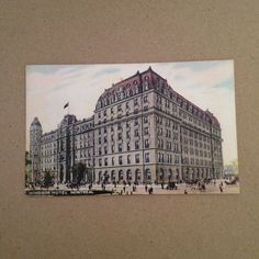 This antique #Montreal postcard features the Windsor Hotel, Canada's first Grand Hotel.