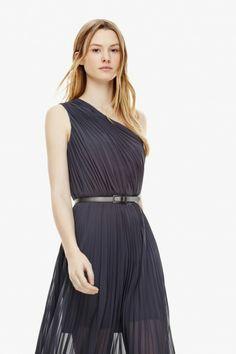 Asymmetric Pleated Gown  | Adolfo Dominguez