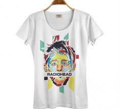 RADIOHEAD Beyaz Kadın T-shirt Tişört - Thom Yorke T-shirt B211-205b
