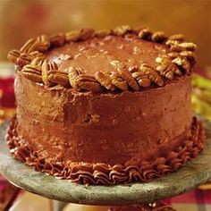 Chocolate Italian Cake This is a chocolate version of the traditional Italian cream cake with coconuts and pecans folded into the batter and a rich, thick chocolate cream cheese filling and frosting. Best Chocolate Desserts, Decadent Chocolate, Delicious Chocolate, Delicious Desserts, Dessert Recipes, Chocolate Cakes, Dessert Ideas, Yummy Recipes, Vegan Recipes