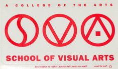 Detail from a School of Visual Arts window sticker (reversed), ca. 1988 In 1988, the School of Visual Arts commissioned Paula Scher to redesign its logo. ...