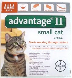 NEW Bayer Advantage II 4 Pack for Small Cats 5-9 lbs Genuine EPA Approved