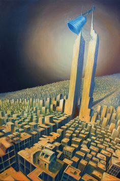 AFAN Alessandro Fantini - OI POLLOI (The calling thunders) Oil on canvas, 40x60cm. (2017)