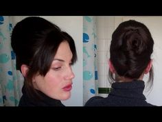 Easy beehive updo NO TEASING hairstyle