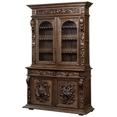 19th Century Renaissance Bookcase | See more antique and modern Bookcases at http://www.1stdibs.com/furniture/storage-case-pieces/bookcases