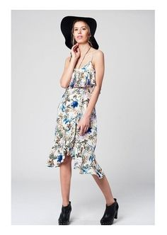 """Floral Print Dress,,,,"" by ladieswishlist on Polyvore"