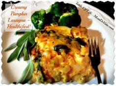 Great way to get your veggies! Creamy Pumpkin Lasagna Healthy Gluten Free Light Recipe