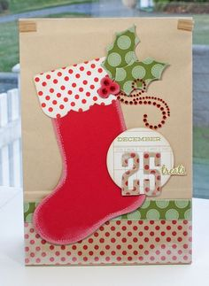 Darling Dots, Stitched Stockings, Journal It - Calendar Basics, Jumbo Christmas Stocking Die-namics - Lisa Johnson