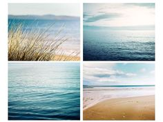 nautical decor ocean photography print set by mylittlepixels Print and hang