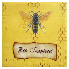 Let It Bee - Bee Painting Honey Bee Decoration Encaustic Beeswax I Love Bees, Birds And The Bees, Bee Painting, Buzz Bee, Images Vintage, Bee Images, Bee Friendly, Bee Art, Bee Theme