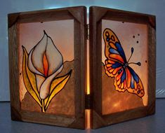 Photophore (Faux-vitrail) Candle Sconces, Stained Glass, Art Nouveau, Wall Lights, Candles, Cool Stuff, Frame, Crafts, Diy