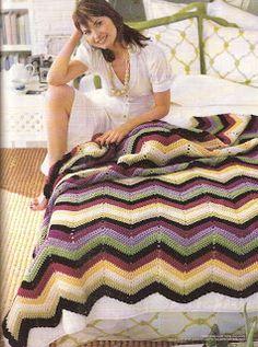 TEJIDOS CROCHET: colchas zig crochet