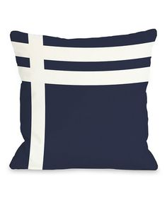 Take a look at this Navy & White Nautical Stripe Pillow by OneBellaCasa on #zulily today!