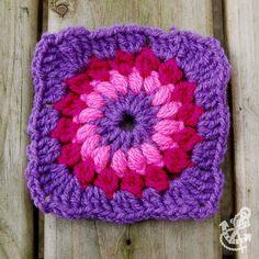 Sunburst - Flowery Granny Square Crochet Pattern