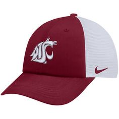 super popular 1f07c e49de Men s Nike Crimson White Washington State Cougars Trucker Adjustable  Performance Hat