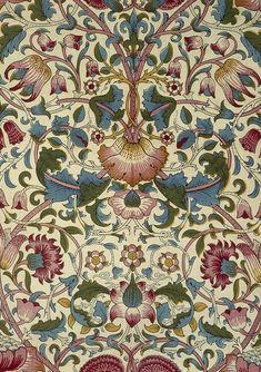 An art nouveau design by William Morris Art Nouveau Wallpaper, Of Wallpaper, Designer Wallpaper, Motif Floral, Floral Design, Textiles, Art Nouveau Bedroom, Zentangle, Molduras Vintage