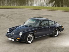 1988 PORSCHE 911 3.2 Carrera Dark Blue with Black Leatherette
