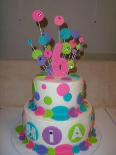 Baby Doll Party Birthday Cake im thinking Ill do a cake like this